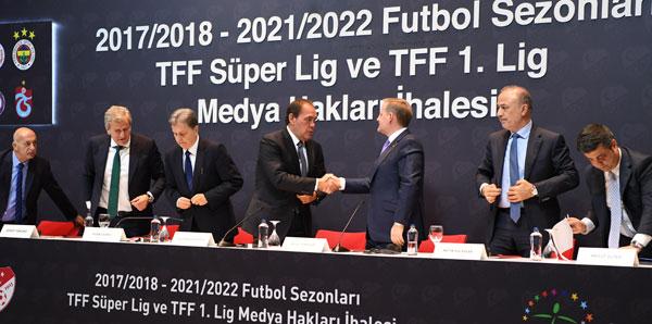 TFF Süper Lig ve TFF 1. Lig Medya Hakları İhalesi yapıldı