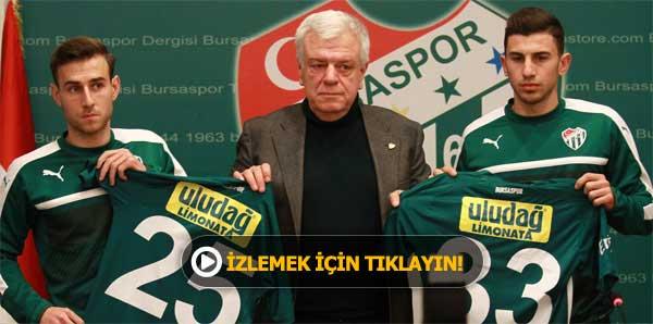 Boban Jovic ve Onur Atasayar Bursaspor'da