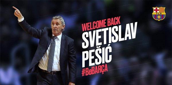 Barcelona, takımın başına Svetislav Pesic'i getirdi