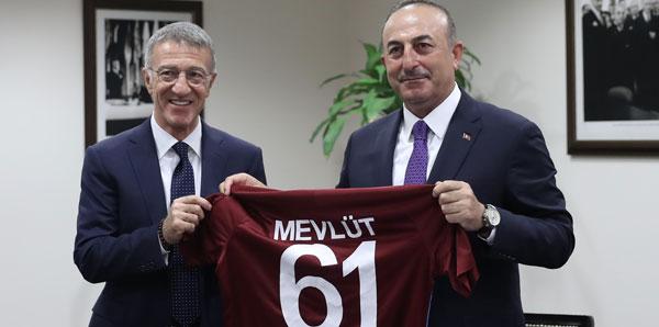 Trabzonspor Başkanı Ağaoğlu'ndan Bakan Çavuşoğlu'na ziyaret