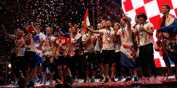 Hırvatistan dünya ikinciliğini kutladı