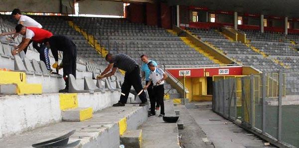 Ankara 19 Mayıs Stadı'nın yıkımı başladı!