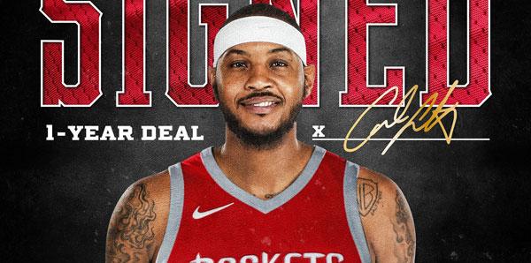 Carmelo Anthony, Houston Rockets'ta!