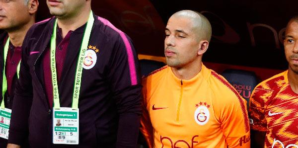 Galatasaray'da Feghouli yine yedek