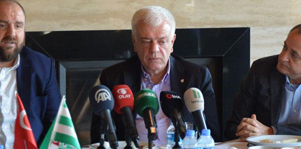 """Bursaspor Başkanı Ali Ay: """"100 milyon TL'ye ihtiyacımız var'"""