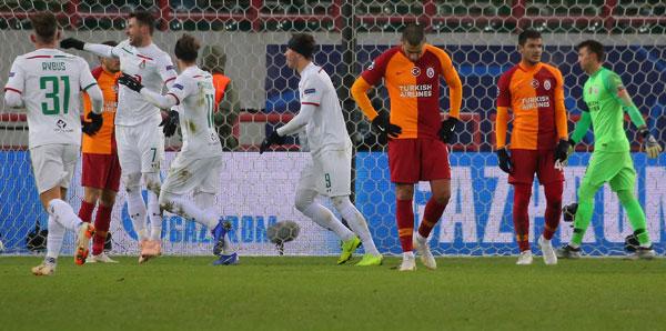 Lokomotiv Moskova - Galatasaray: 2-0 (İşte maçın özeti)