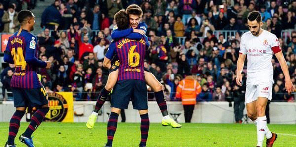 Barcelona - Cultural Leonesa: 4-1