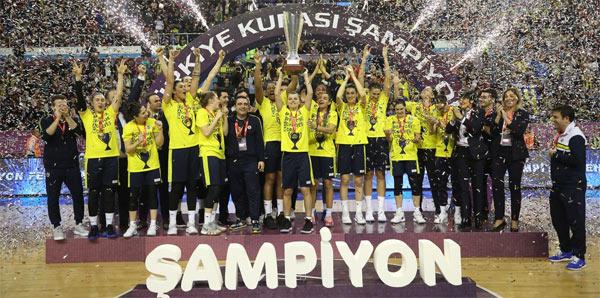 Kadınlar Türkiye Kupası'nda şampiyon Fenerbahçe