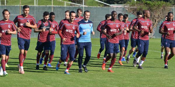 Trabzonspor'da Sosa ve Pereira antrenmana çıktı