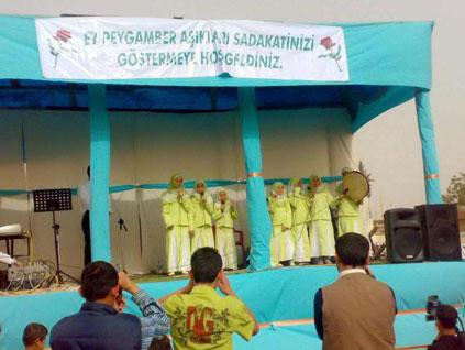 Genelkurmay'ın tepkisini çeken yeşil türbanlı kız çocuklar yine sahnede