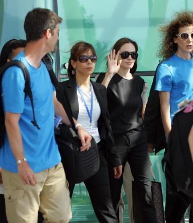 Ünlü yıldız Angelina Jolie Hatay'a geldi...