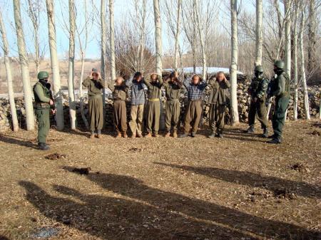 İşte PKK'lıların yakalandığı operasyonun görüntüleri