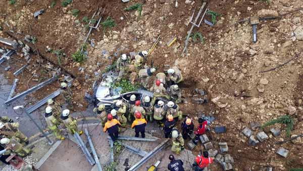 Başakşehir'de istinat duvarı çöktü! Bir kişi hayatını kaybetti
