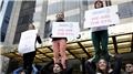 Trump'a öfkeli kadınlar sokağa indi
