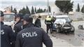 Denizli'de polis aracı ile çöp kamyonu çarpıştı: 2 polis yaralı
