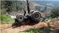 Traktörüyle uçuruma yuvarlanan çiftçi yaşamını yitirdi