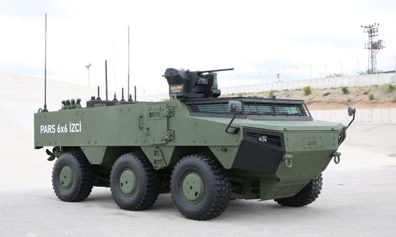Türkiye'nin tank avcısı Pars 4x4 görücüye çıktı