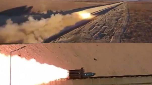 Bir tonluk bomba ses hızını aşıp hedefi deldi