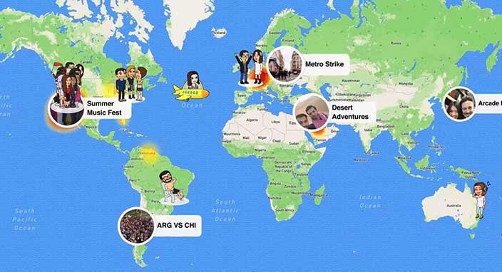 Snapchat'e Snap Map özelliği! Snap Map nedir?