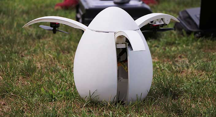 Türk öğrencilerin yaptığı yumurta şeklindeki drone büyük ilgi gördü