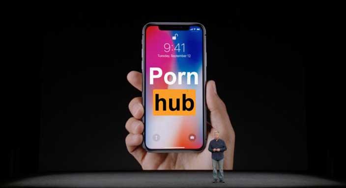 Pornhub istatistikleri iPhone X tanıtılırken düşüşe geçti