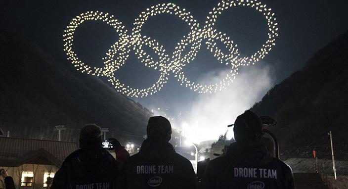 Intel, 2018 Kış Olimpiyatları'nda 1218 adet drone ile rekor kırdı