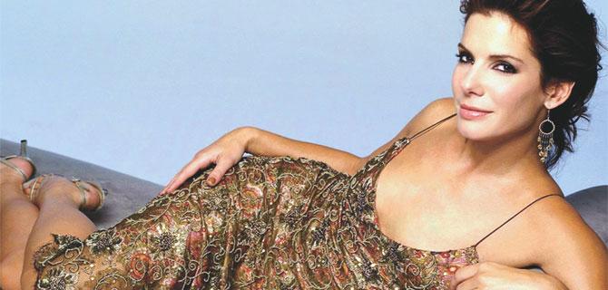Сандра Баллок в роскошном платье.