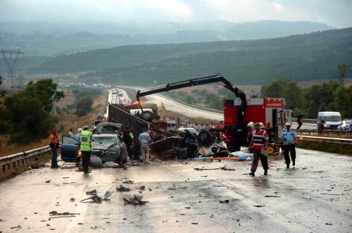 Boluda zincirleme trafik kazası