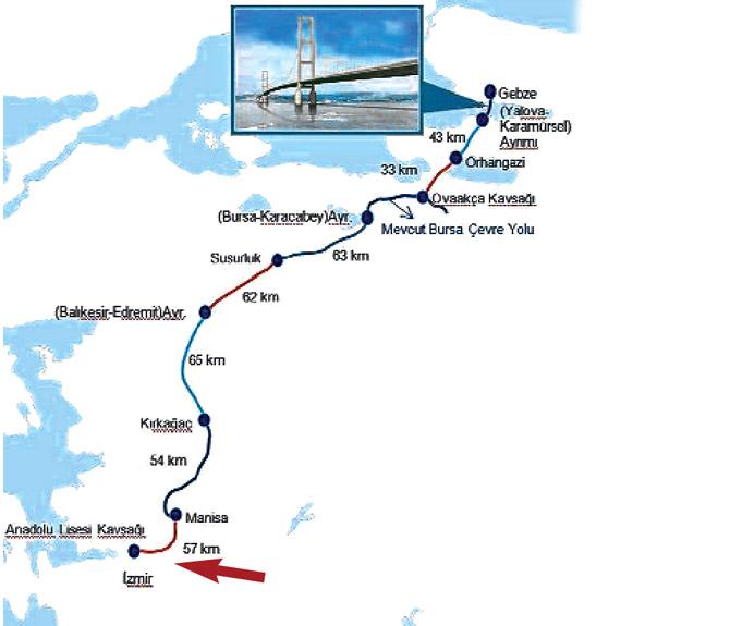 Dünyadaki en büyük ikinci asma köprüyle İstanbul-İzmir 3.5 saat
