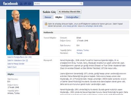 Sakin Güçün Facebookte 2 günde 2 bin arkadaşı oldu