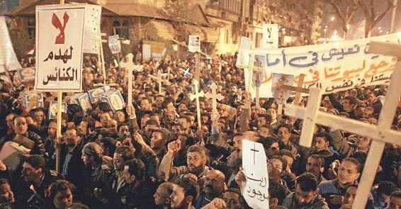 Mısır'da Hıristiyan-Müslüman çatışması: 13 ÖLÜ