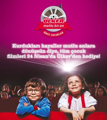 Ülker, 24 Nisan'da minikleri sinema ile buluşturuyor