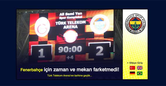 Fenerbahçe için zaman ve mekan fark etmedi