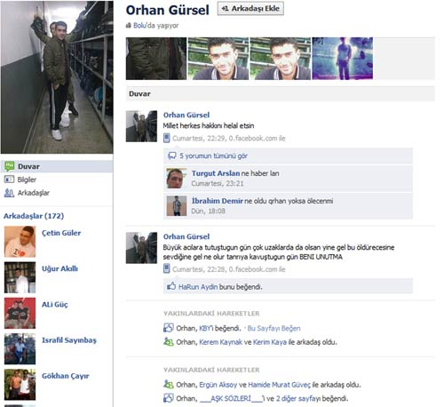 Facebooktan helallik isteyip intihar etti