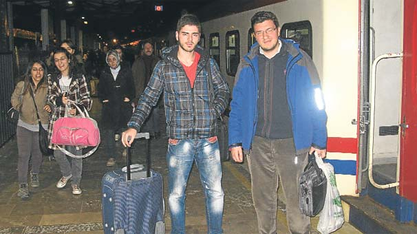 Tren seferleri iptal öğrenciler mağdur