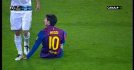 Pepe Messinin eline kasten bastı