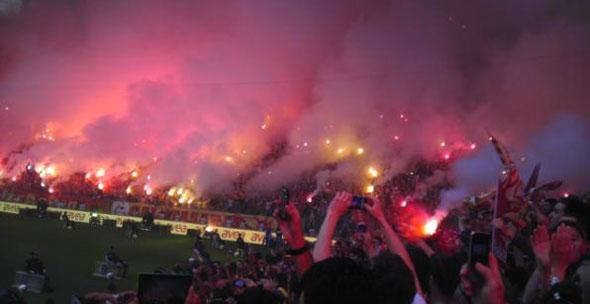 Galatasaray kutlama için Arenada