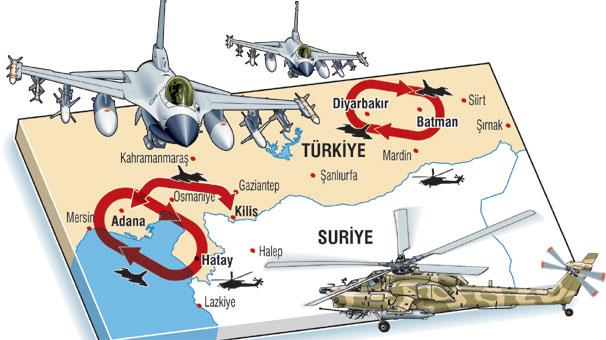 Türk jetleri Suriye için kalktı
