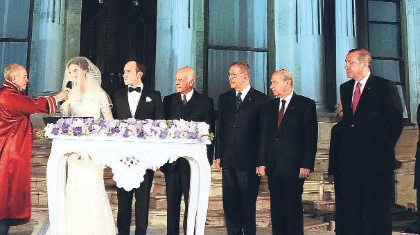 Erdoğan ile Bahçeli nikâh şahitliği yaptı