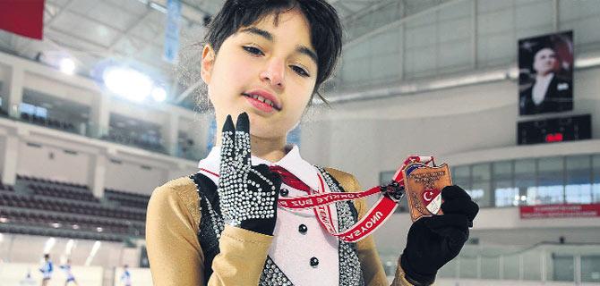 Küçük sporcu Başkan'a söz verdi
