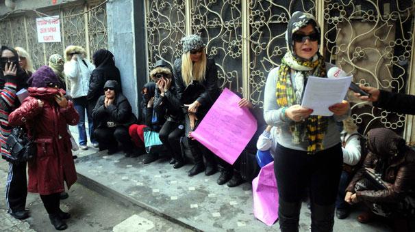 Karaköy'de genelevde çalışan kadınlar isyan etti