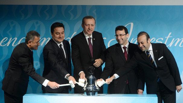 Erdoğan, Borsa İstanbul'un gongunu çaldı
