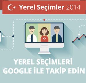 """Seçimler """"Google Yerel Seçim 2014"""" portalında!"""