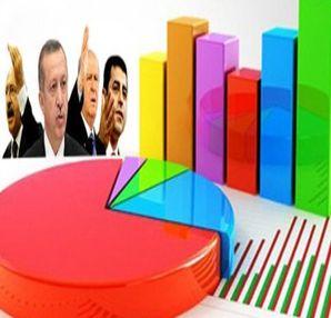 Son Seçim anketi 2014 (İşte Ak Parti, CHP, MHP, BDP Oy oranları)