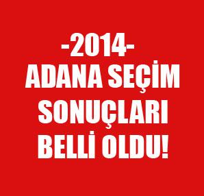 Adana yerel seçim sonuçları - 2014 (Adana'da kim kazandı?)