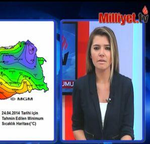Hava durumu öğren 24 04 2014 tüm yurtta hava durumu raporu