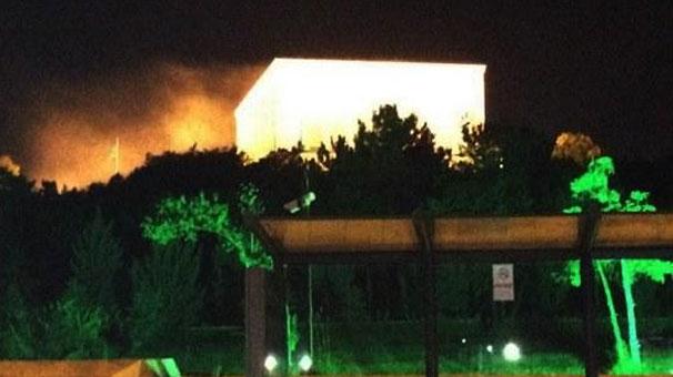 """Anıtkabir'deki """"duman"""" panik yarattı"""