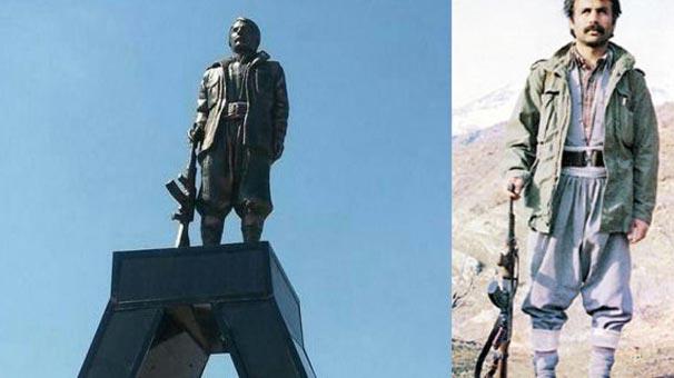 Diyarbakır'da PKK'lı teröristin heykeli dikildi