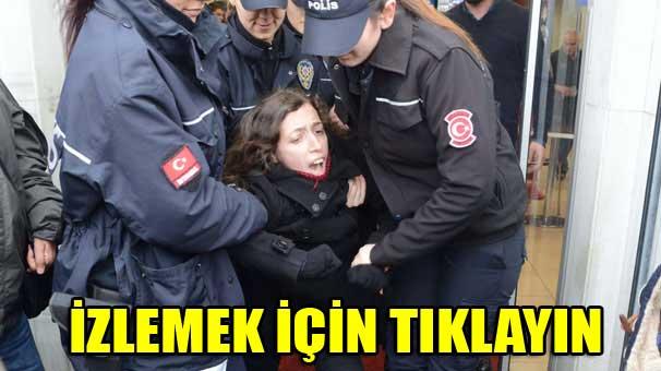 Özgecan protestosunda kadınlara gözaltı