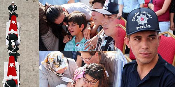 Şehit polisler törenle memleketlerine uğurlandı